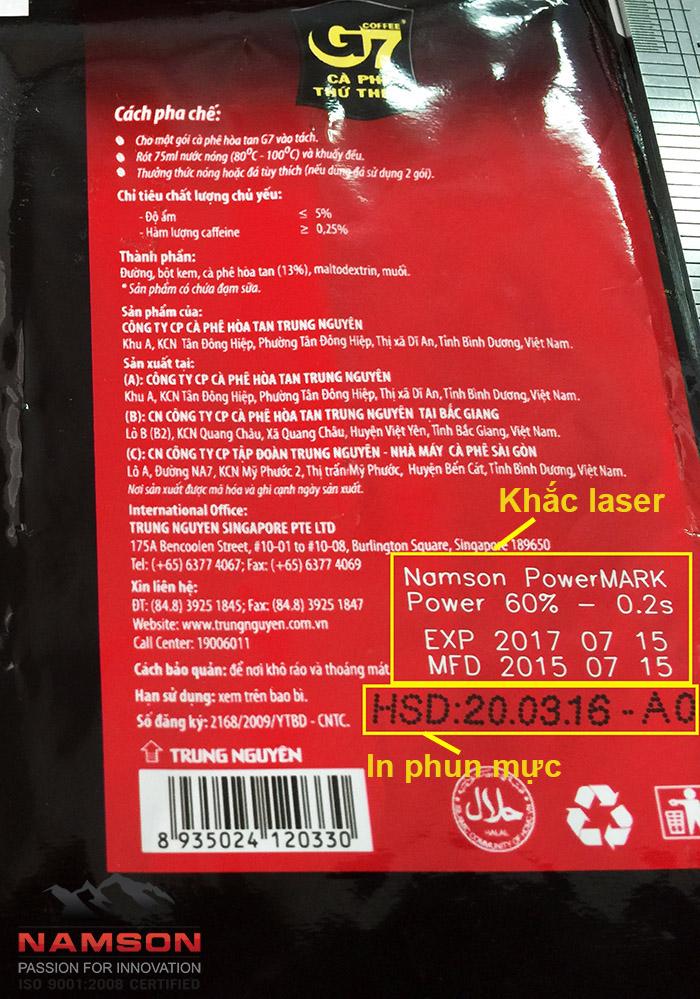 Khắc laser lên bao bì ứng dụng trong ngành bao bì thực phẩm F&B