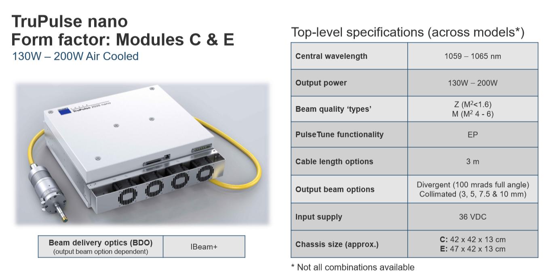 nguon laser fiber trupulse nano module C & E